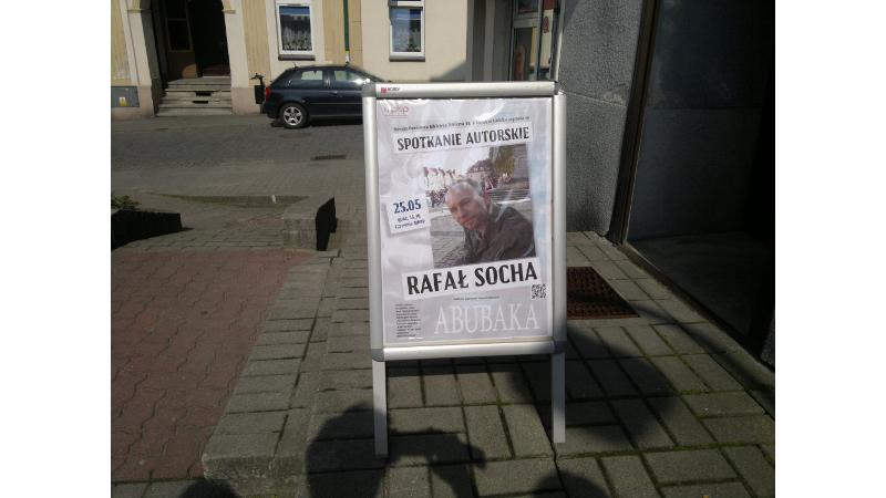 Plakat informujący o spotkaniu w Lublińcu.